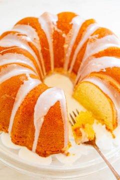 Easy Glazed Pound Cake