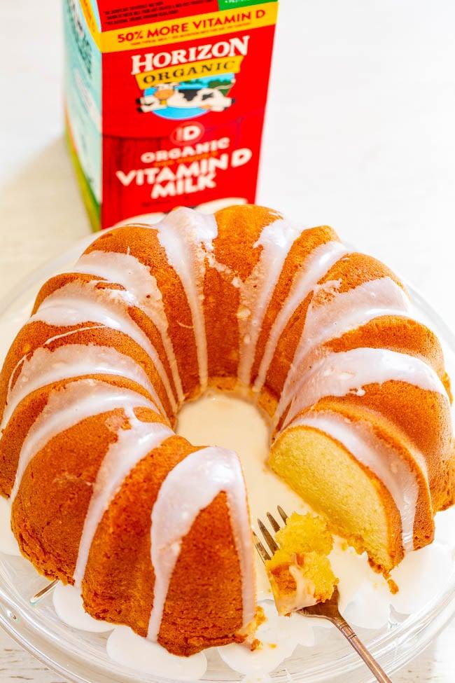 Easy Glazed Pound Cake Averie Cooks