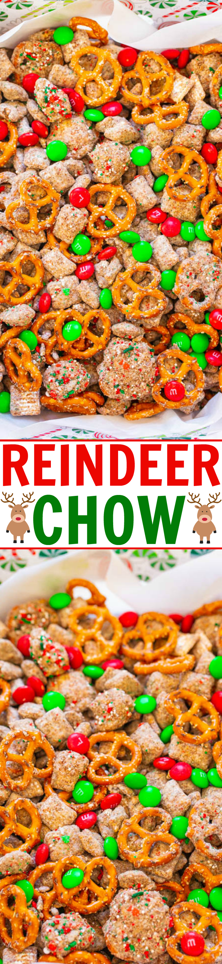 Reindeer Chow Aka Christmas Puppy Chow Averie Cooks