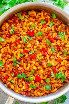 One-Skillet Tex Mex Beef Mac & Cheese