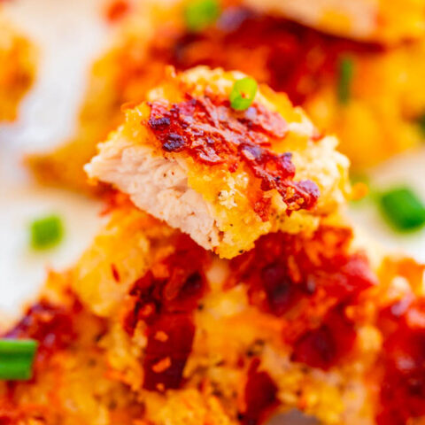 Baked Bacon Cheddar Chicken Tenders