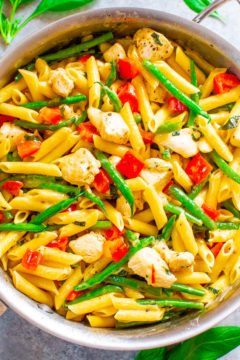 Asiago Chicken and Pasta