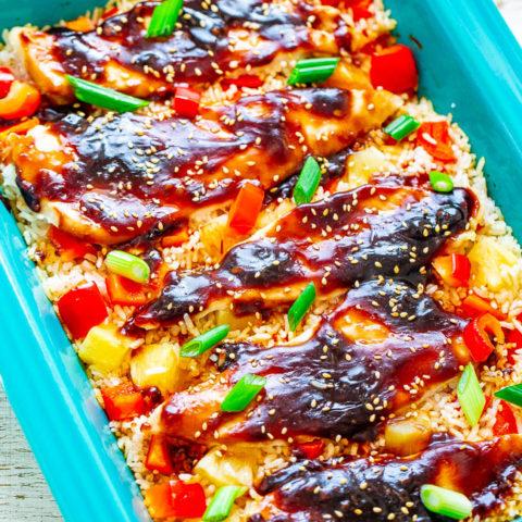 Baked Teriyaki Chicken and Rice