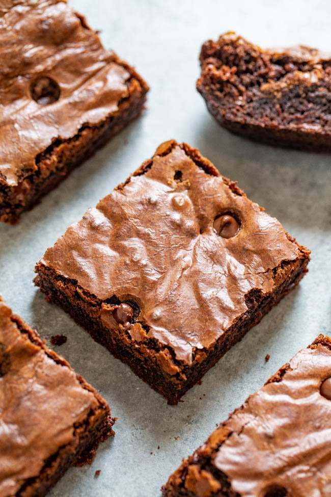 Boyfriend Brownies - Thick, rich, and a chocolate lovers dream!! Fudgy in