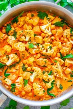 Cauliflower, Chickpea, and Chicken Coconut Curry