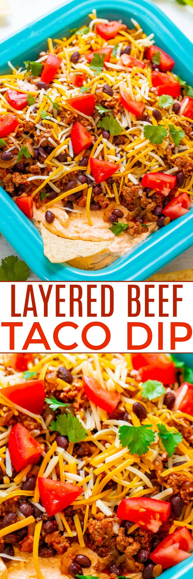 Layered Beef Taco Dip Averie Cooks