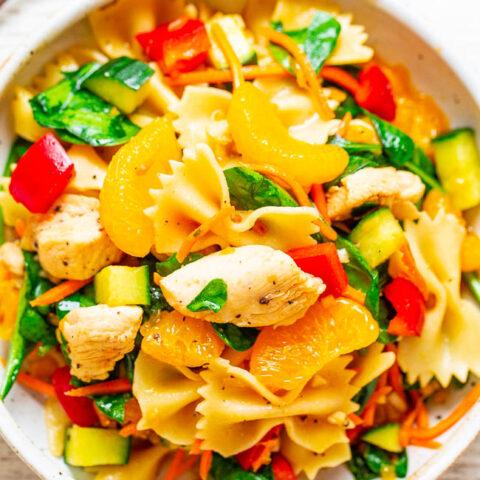 Mandarin Orange Chicken Pasta Salad