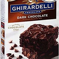 Ghirardelli Dark Chocolate Brownie Mix, 20-Ounce Boxes, Pack of 4