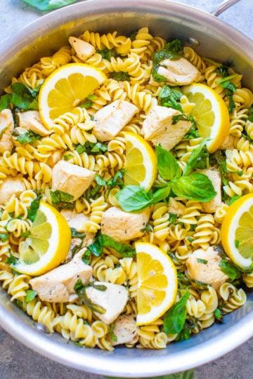 Lemon Pepper Basil Chicken and Pasta