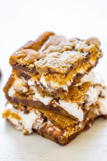 Chocolate Chip Cookie Smores Bars