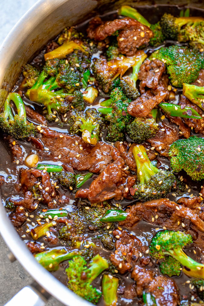 Better-Than-Takeout Beef and Broccoli — It really is BETTER than takeout and it's definitely FASTER!! This EASY Chinese restaurant copycat recipe is a family favorite that'll go into your regular rotation!!