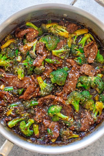 Better-Than-Takeout Beef With Broccoli - It really is BETTER than takeout and it's definitely FASTER!! This EASY Chinese restaurant copycat recipe is a family favorite that'll go into your regular rotation!!