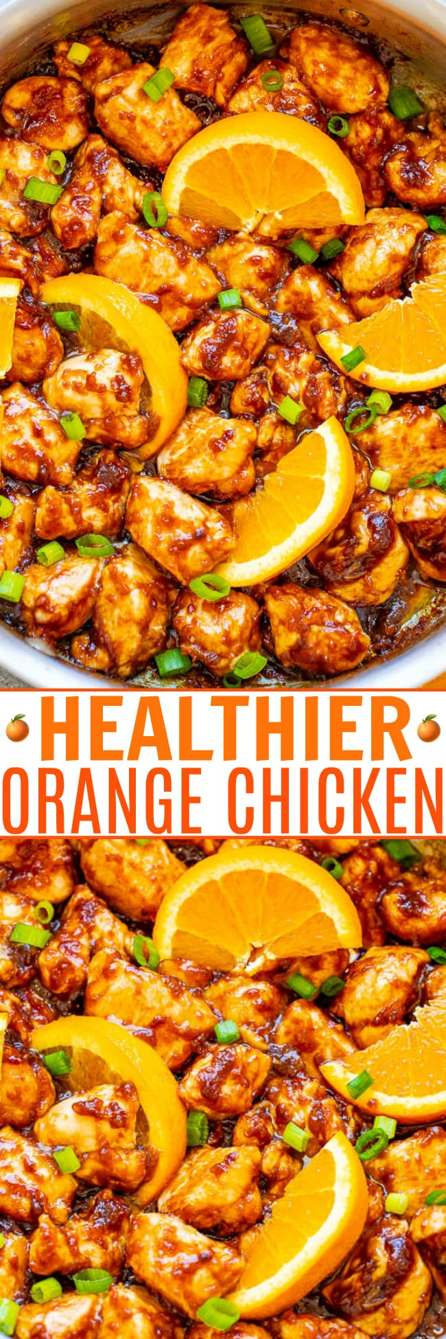 Healthier Orange Chicken – Stop calling for takeout or going to the mall food court and make this HEALTHIER orange chicken at home in less than 10 minutes!! EASY, authentic, and so INCREDIBLE that you'll never miss the fat and calories!!
