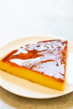 Classic Caramel Flan - If you've been scared to make what seems like a complicated dessert, don't worry!! This flan recipe is easy to follow and delivers delicate, TENDER, delicious flan with an IRRESISTIBLE caramel sauce!!
