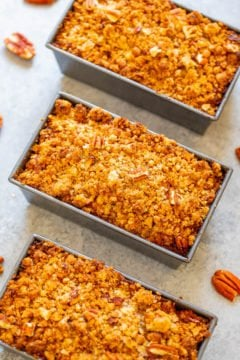 Mini Crumble Topping Pumpkin Bread