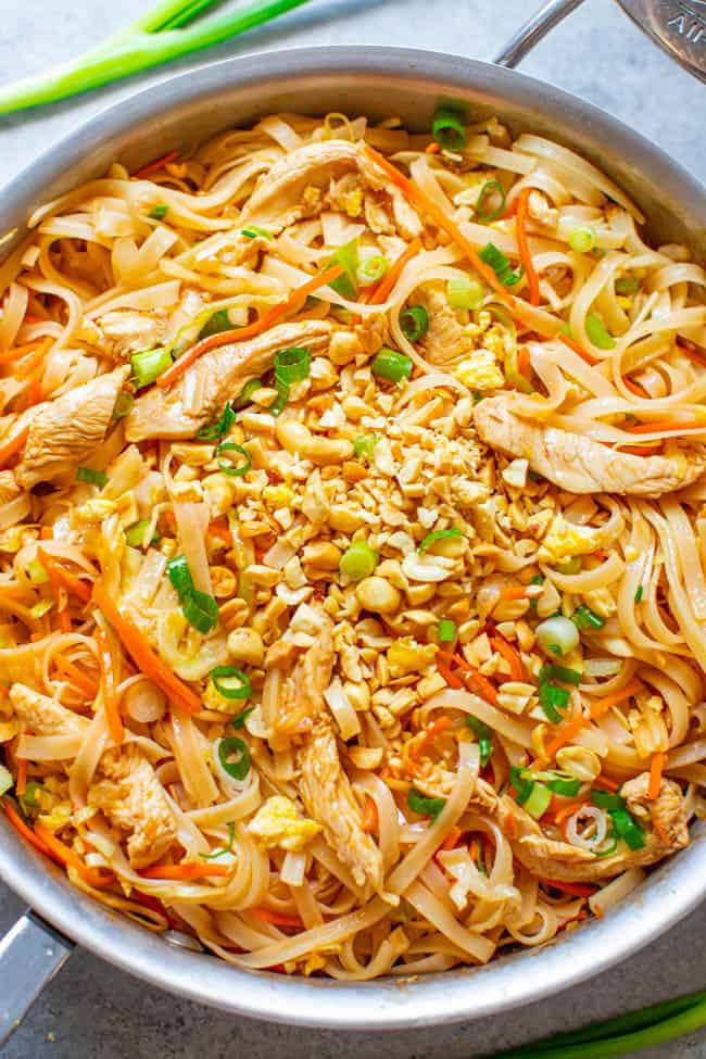 Chicken Pad Thai Easy 20 Minute Recipe Averie Cooks