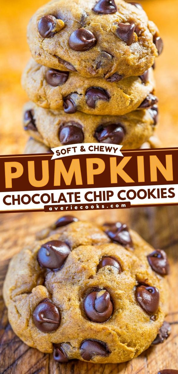 Pumpkin Chocolate Chip Cookies— Between the molasses, pumpkin pie spice, and pumpkin pie spice extract that I used, these pumpkin chocolate chip cookies beautifully showcase the flavors of fall!