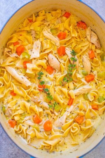 Easy 30-Minute Creamy Chicken Noodle Soup