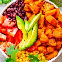 Mexican Sweet Potato and Black Bean Buddha Bowl