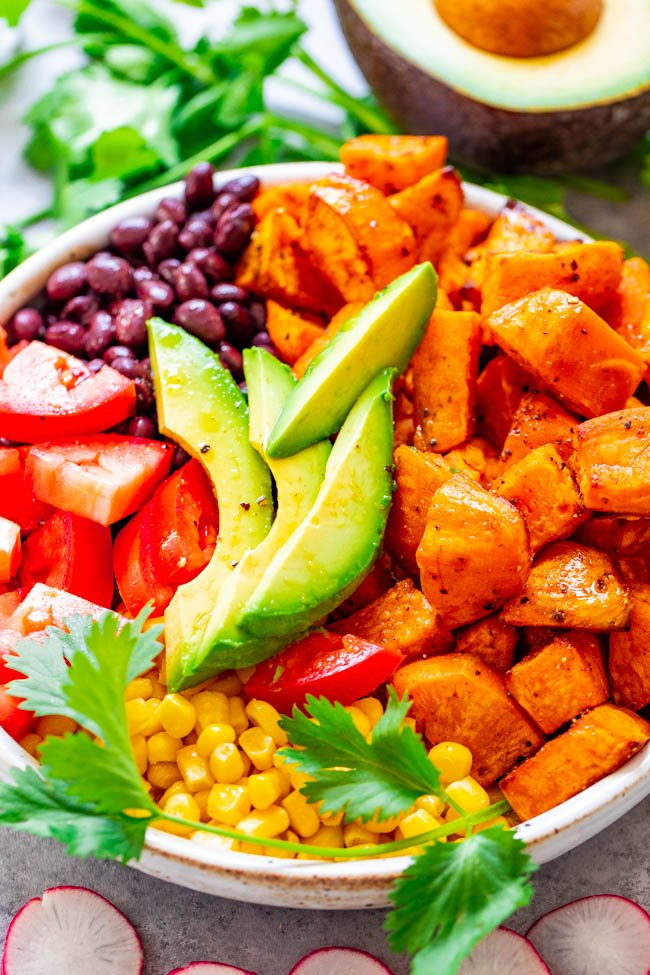 Mexican Sweet Potato and Black Bean Buddha Bowl
