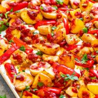 Sheet Pan Salsa Chicken and Potatoes