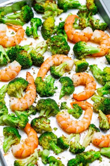 10-Minute Lemon Butter Shrimp and Broccoli
