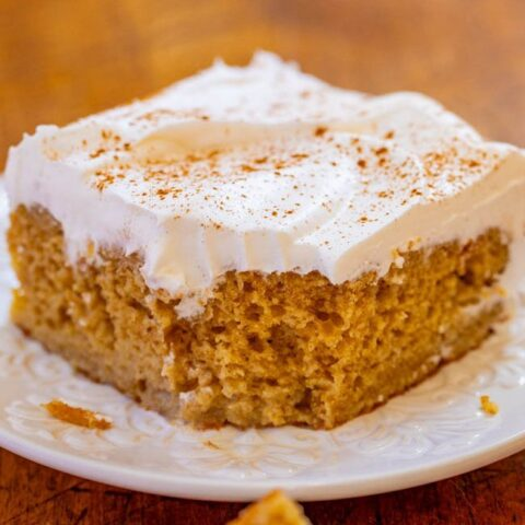 Snickerdoodle Poke Cake - If you like snickerdoodle cookies, you'll love the flavor of this snickerdoodle cake with the PERFECT amount of cinnamon!! Fast, so EASY, moist, and a great MAKE-AHEAD cake for parties!!