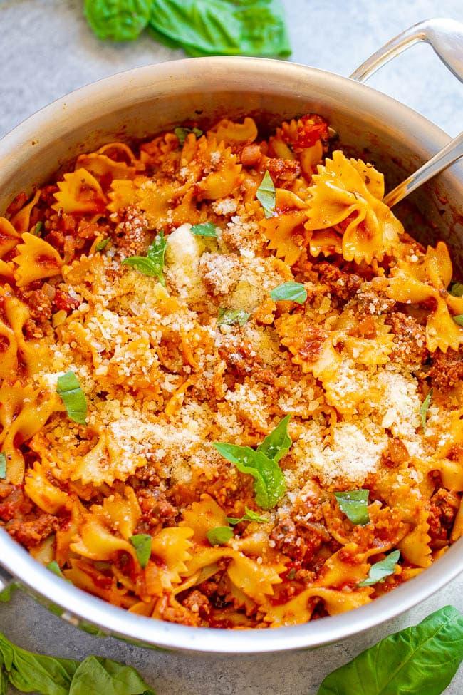 Healthier 20-Minute Skillet Lasagna