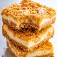 Butterscotch Graham Cracker Cheesecake Bars