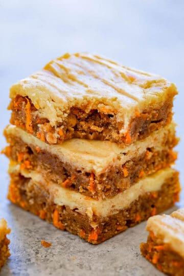 Carrot Cake Cream Cheese Blondies