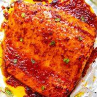 Sheet Pan Chili Dijon Salmon