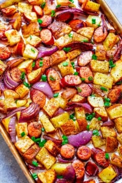 Sheet Pan Sausage and Potatoes