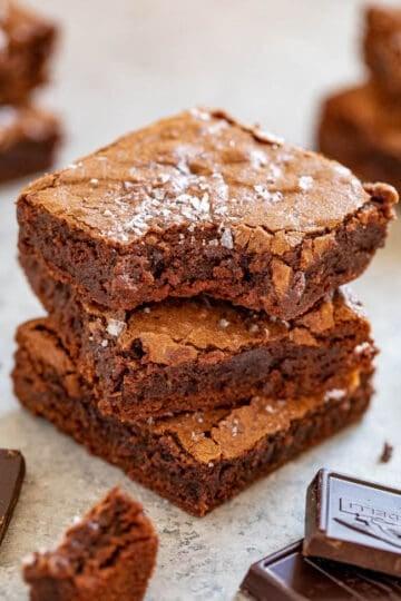 The Best Fudgy Sea Salt Brownies