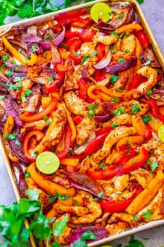 25-Minute Sheet Pan Chicken Fajitas