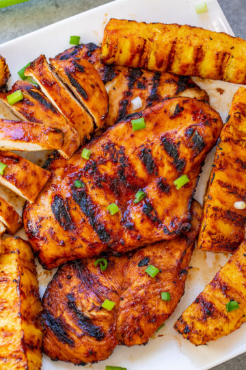 Grilled Aloha Chicken and Pineapple