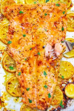 Lemon Pepper Dijon Salmon