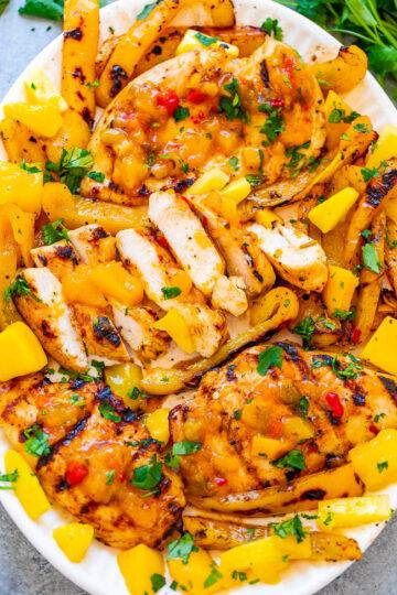 Grilled Mango Pineapple Chicken