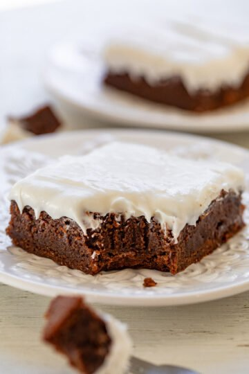 Old-Fashioned Fudgy Frosted Brownies