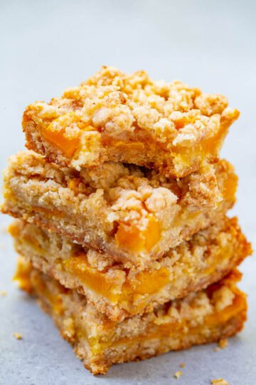 Mango Oatmeal Crumble Bars