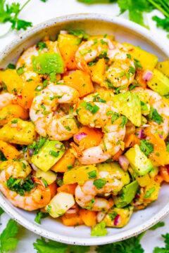 Mango Pineapple Shrimp Salad