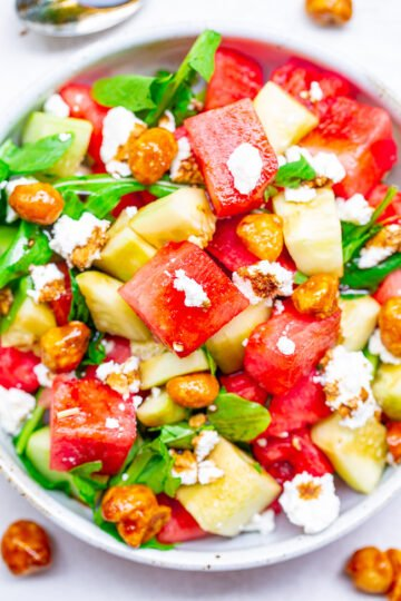 Balsamic Watermelon and Cucumber Salad