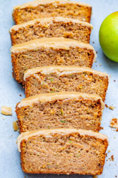Apple Zucchini Bread with Brown Sugar Frosting