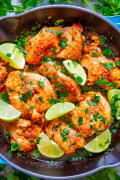 Skillet Lime Cilantro Chicken