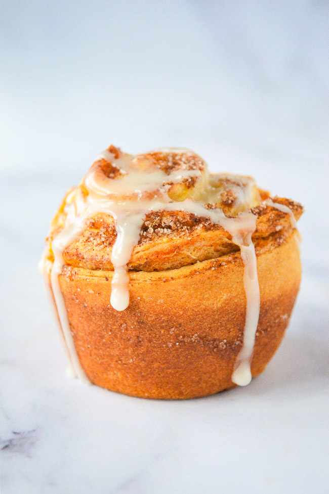 Pumpkin Spice Cruffins - What you get when you marry a croissant with pumpkin spice and bake it in a muffin pan!! The EASIEST recipe that uses just a handful of convenience ingredients, ready in 20 minutes, and perfect for pumpkin season!!
