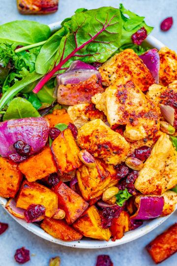 Roasted Chicken and Sweet Potato Harvest Salad