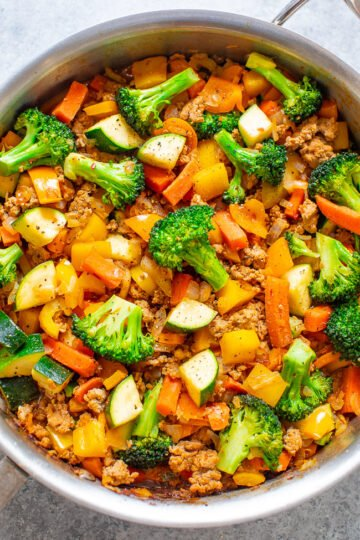 Healthy Turkey and Vegetable Stir Fry