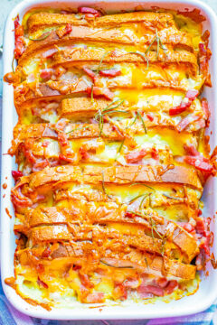 Baked Bacon Cheddar French Toast