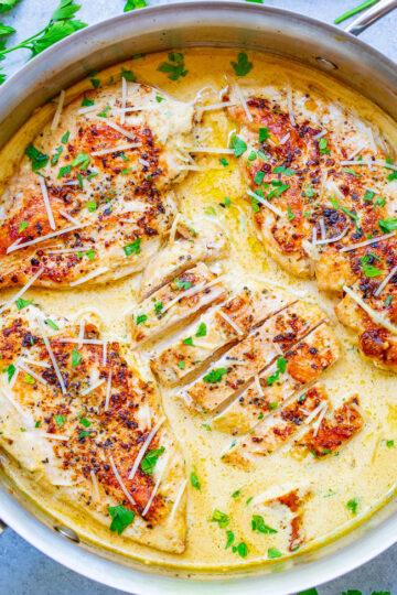 Creamy Parmesan Dijon Skillet Chicken