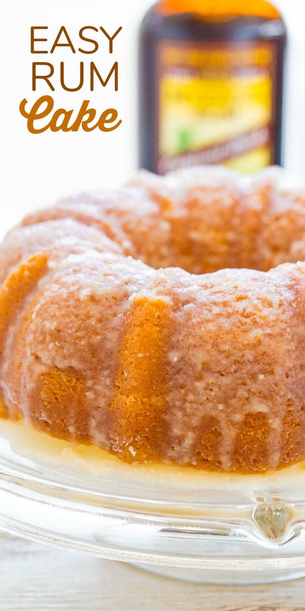 Rum Cake — A double dose of rum in this EASY cake that's supremely moist, buttery, and literally juicy from all the rum!! The perfect make-ahead holiday entertaining cake that everyone will LOVE!!