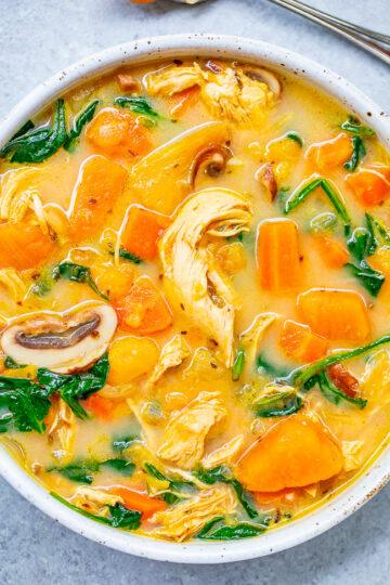 Creamy Sweet Potato Chicken Soup